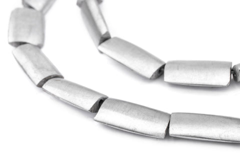Rectangular Maasai Silver Beads (24x15mm) - The Bead Chest