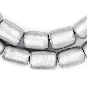 Barrel Maasai Silver Beads (20x16mm) - The Bead Chest