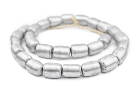 Image of Barrel Maasai Silver Beads (20x16mm) - The Bead Chest