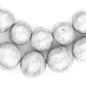 Round Maasai Silver Beads (22mm) - The Bead Chest