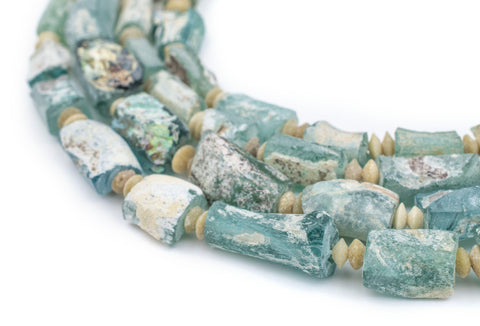 Rectangular Ancient Roman Glass Beads (Pastel Colors) - The Bead Chest