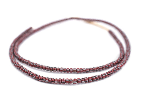 Image of Brown Chevron Beads (3x4mm) - The Bead Chest