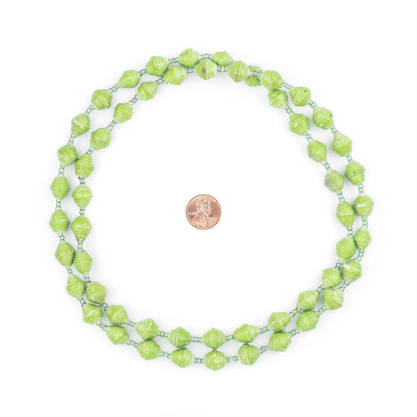 Lime Green Recycled Paper Beads from Uganda