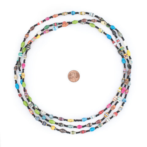 Beach Recycled Paper Beads from Uganda (Extra Small) - The Bead Chest