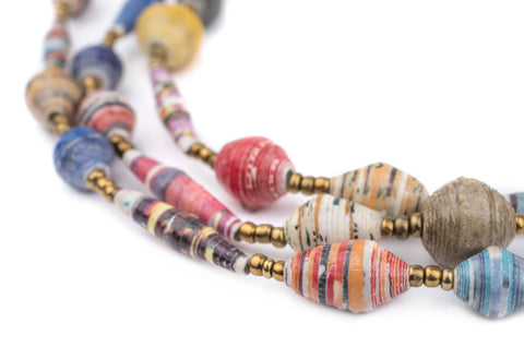 Image of Mixed Recycled Paper Beads from Uganda - The Bead Chest