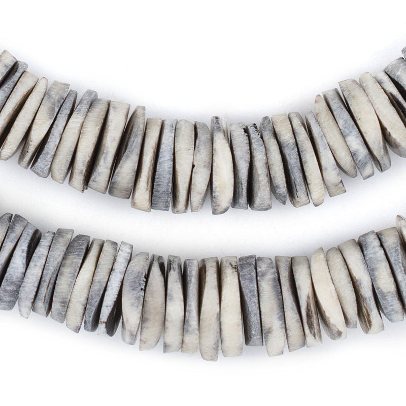 Grey Coconut Bone Heishi Beads (18mm) - The Bead Chest