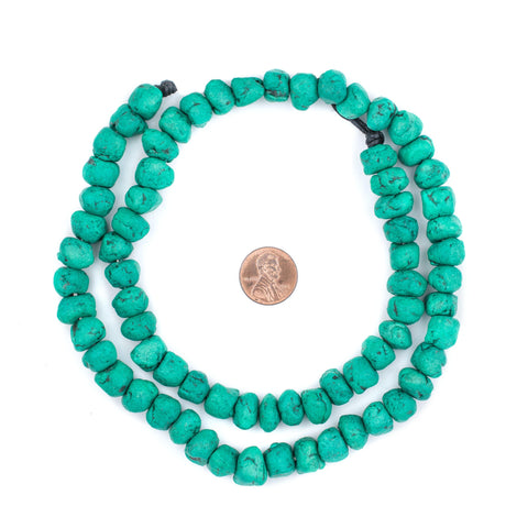 Amazonite Moroccan Pottery Beads (Chunk) - The Bead Chest