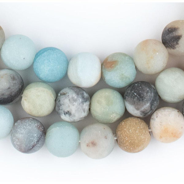 Spherical Amazonite Stone Beads (10mm) (Large Hole) - The Bead Chest