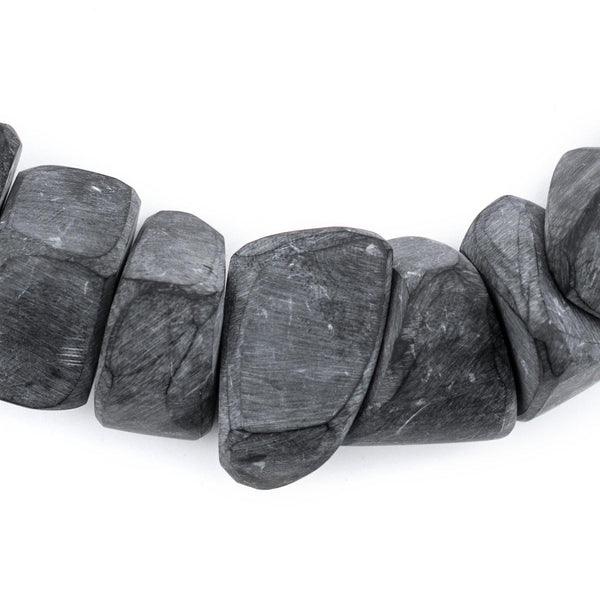 Moroccan Charcoal Resin Chunk Beads - The Bead Chest