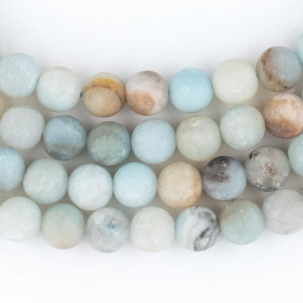 Spherical Amazonite Stone Beads (6mm) - The Bead Chest