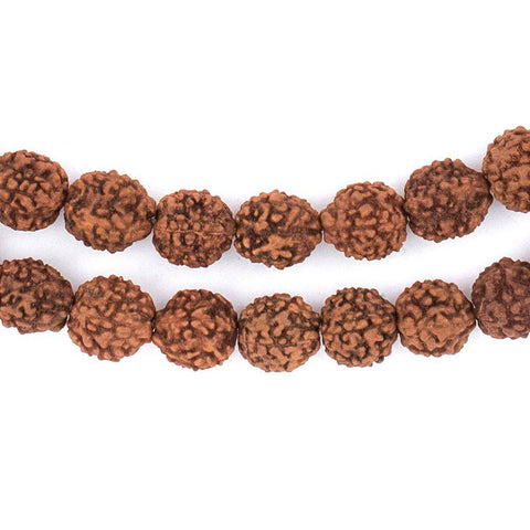 Image of Rudraksha Mala Prayer Beads (10mm) - The Bead Chest