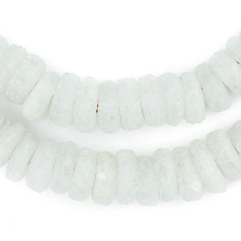 Image of Ice Rondelle Recycled Glass Beads - The Bead Chest