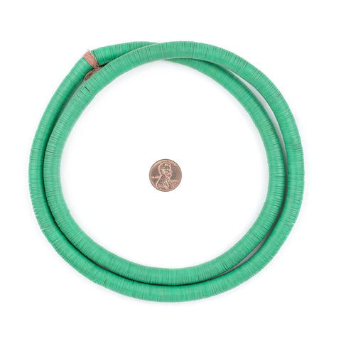 Vintage Green Vinyl Phono Record Beads (10-12mm) - The Bead Chest