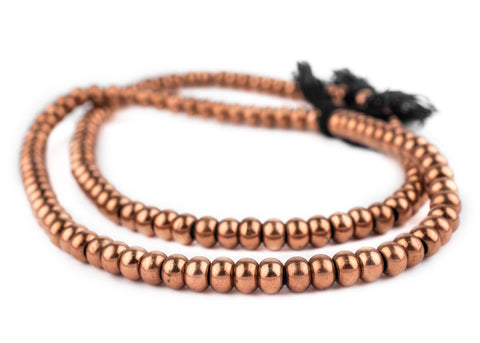 Smooth Copper Padre Beads (9mm) - The Bead Chest