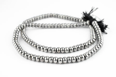 Smooth Silver Padre Beads (9mm) - The Bead Chest