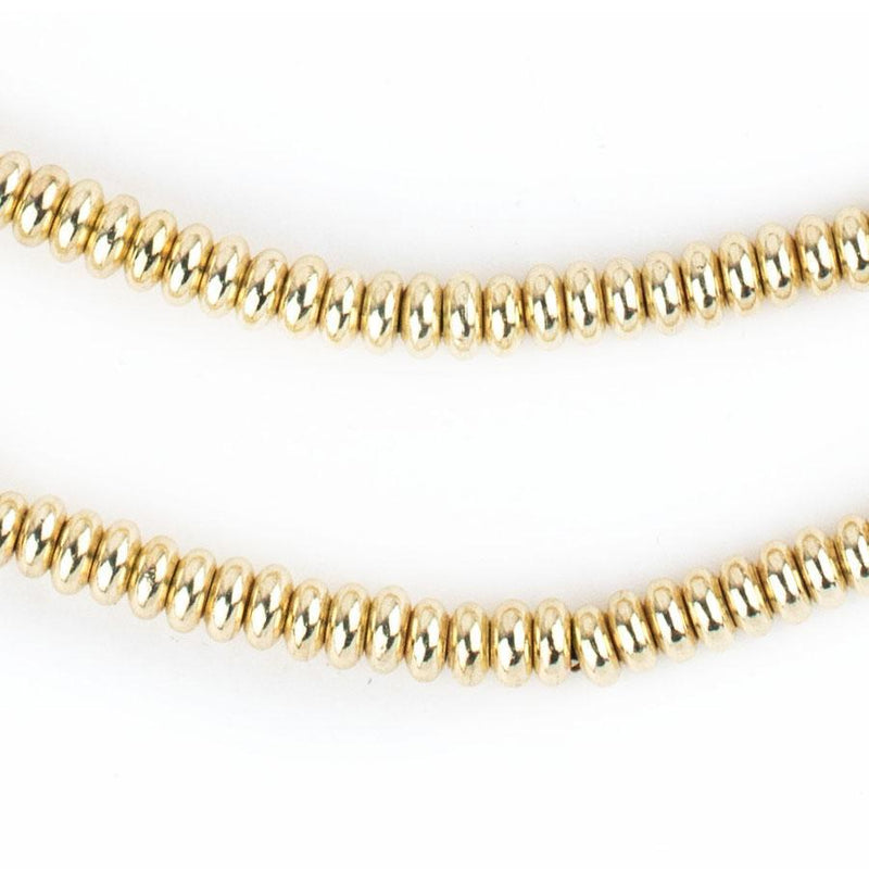 Smooth Gold Rondelle Beads (5mm) - The Bead Chest