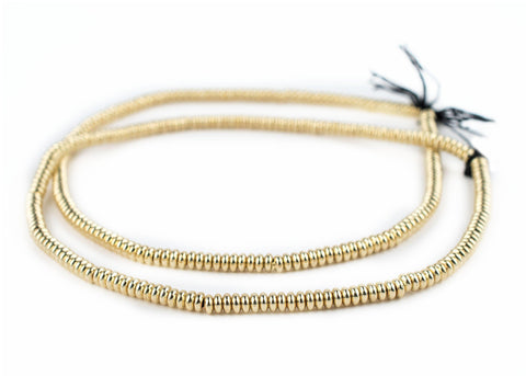 Image of Smooth Gold Rondelle Beads (5mm) - The Bead Chest