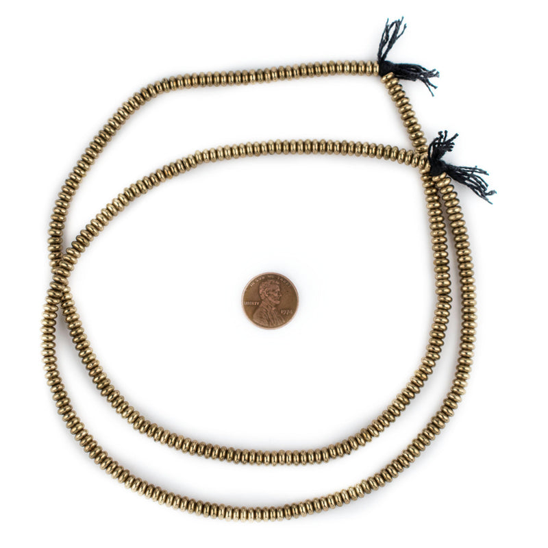 Smooth Brass Rondelle Beads (5mm) - The Bead Chest