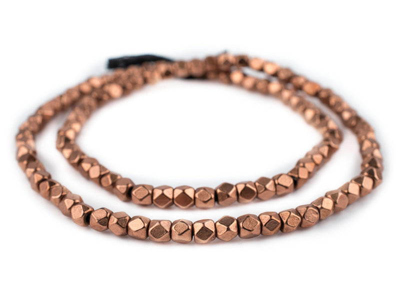 Copper Faceted Diamond Cut Beads (6mm) - The Bead Chest