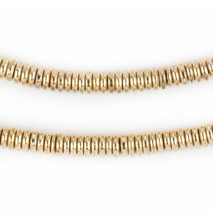 Smooth Gold Heishi Beads (5mm) - The Bead Chest