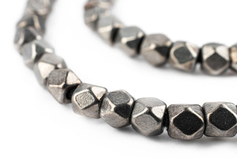 Image of Dark Silver Faceted Diamond Cut Beads (6mm) - The Bead Chest