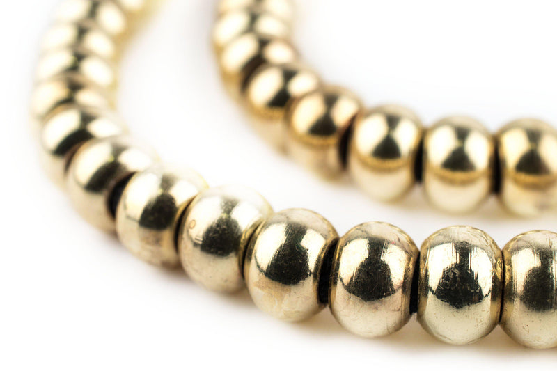 Smooth Gold Padre Beads (9mm) - The Bead Chest