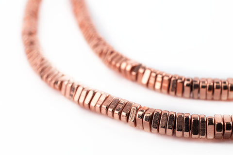 Image of Faceted Copper Triangle Heishi Beads (4mm) - The Bead Chest
