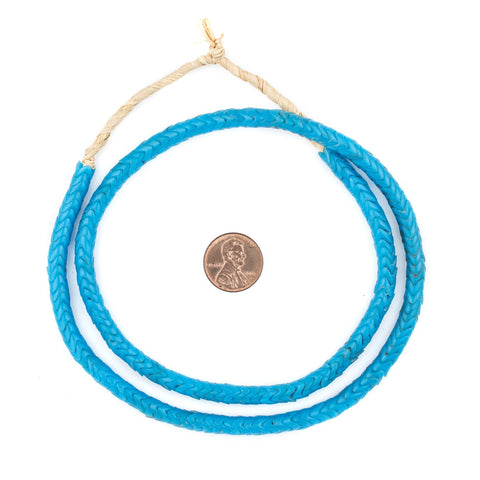 Turquoise Glass Snake Beads (Small) - The Bead Chest