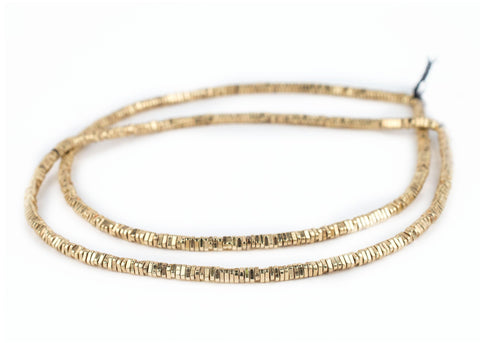 Faceted Gold Triangle Heishi Beads (4mm) - The Bead Chest
