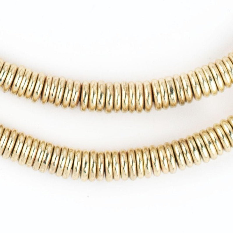 Smooth Extra Large Gold Heishi Beads (6mm) - The Bead Chest