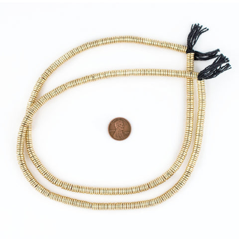 Image of Smooth Extra Large Gold Heishi Beads (6mm) - The Bead Chest