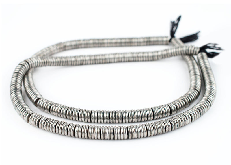 Jumbo Silver Double Heishi Beads (9mm) - The Bead Chest