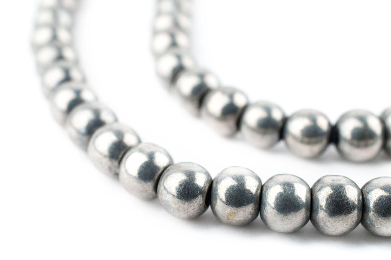 Silver Round Sphere Beads (6mm) - The Bead Chest