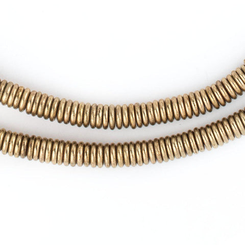 Image of Smooth Extra Large Brass Heishi Beads (6mm) - The Bead Chest