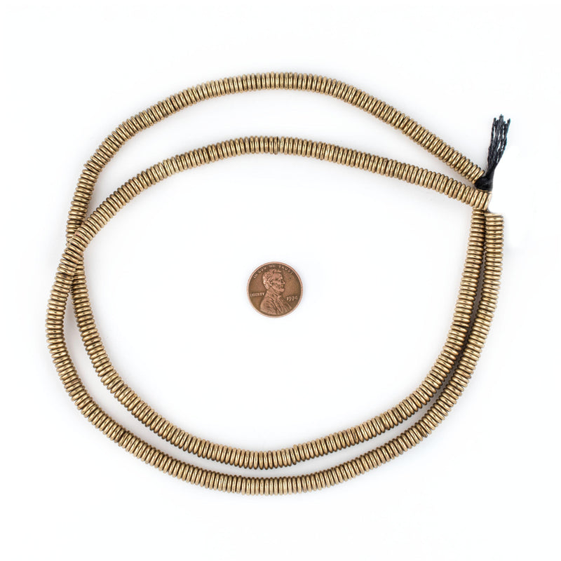 Smooth Extra Large Brass Heishi Beads (6mm) - The Bead Chest