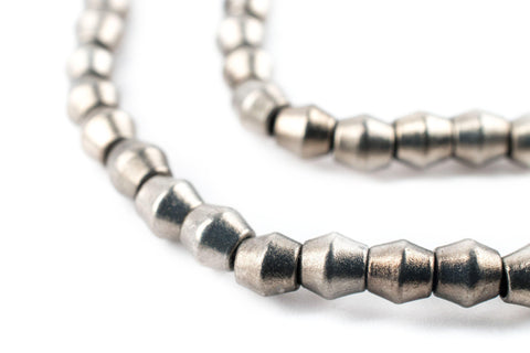 Smooth Silver Bicone Beads (4.5mm) - The Bead Chest