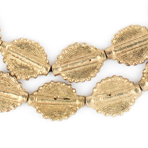Image of Brass Baule Sun Beads (26x19mm) - The Bead Chest
