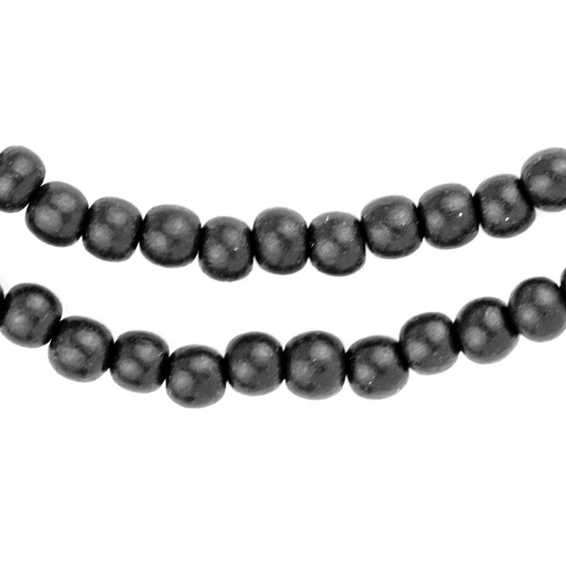 Black Natural Wood Beads (6mm) - The Bead Chest