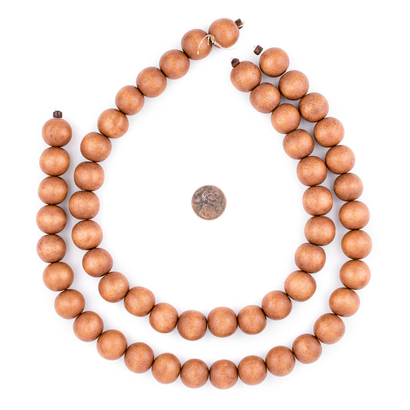 Light Brown Natural Wood Beads (16mm) - The Bead Chest
