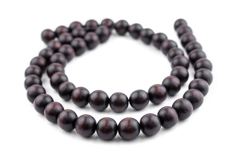Dark Brown Natural Wood Beads (16mm) - The Bead Chest