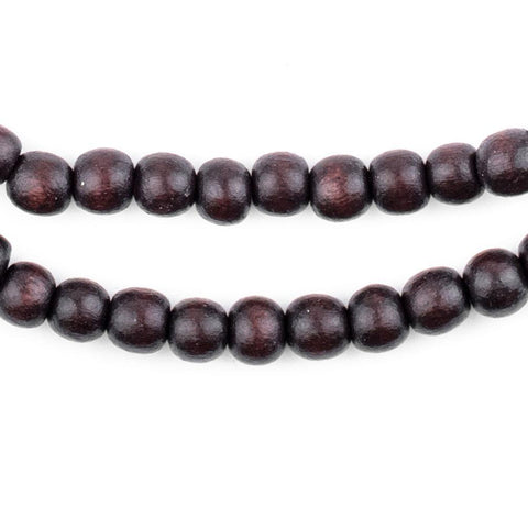 Dark Brown Natural Wood Beads (6mm) - The Bead Chest