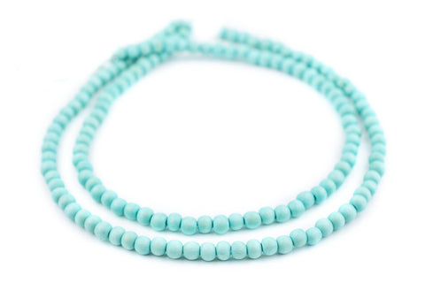 Mint Green Natural Wood Beads (6mm) - The Bead Chest