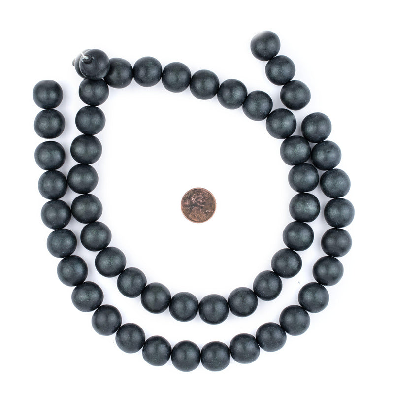 Charcoal Natural Wood Beads (16mm) - The Bead Chest