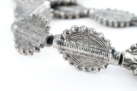 Silver Baule Sun Beads (26x19mm) - The Bead Chest