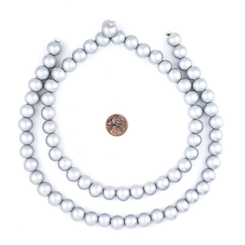 Silver Natural Wood Beads (12mm) - The Bead Chest