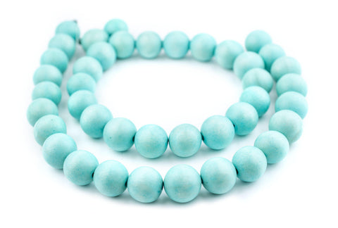 Mint Green Natural Wood Beads (20mm) - The Bead Chest