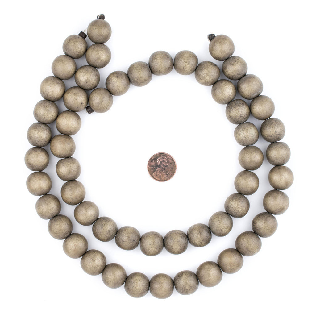 Brown Natural Wood Beads (16mm) - The Bead Chest
