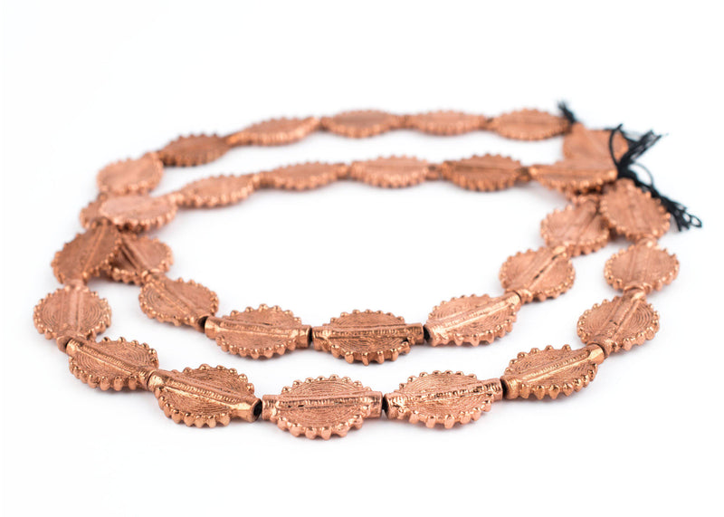 Copper Baule Sun Beads (26x19mm) - The Bead Chest
