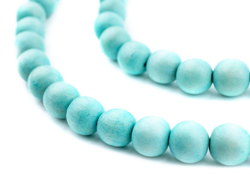 Mint Green Natural Wood Beads (10mm) - The Bead Chest