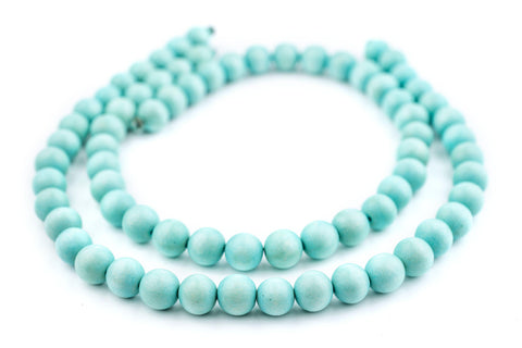 Mint Green Natural Wood Beads (12mm) - The Bead Chest